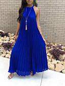 povoljno Maxi haljine-Žene Boho Širok kroj Swing kroj Haljina Jednobojni Na vezanje oko vrata Maxi