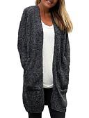 povoljno Ženski jednodijelni kostimi-Žene Jednobojni Dugih rukava Kardigan, V izrez Svijetlosiva / Deva / Tamno siva One-Size