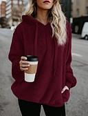 povoljno Ženske majice s kapuljačama i trenirke-Žene Veći konfekcijski brojevi Ležerne prilike Širok kroj Hoodie Jednobojni