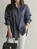 hesapli Gömlek-Kadın's Gömlek Çizgili Temel Beyaz