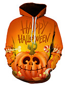 povoljno Muške majice s kapuljačom i trenirke-Muškarci Halloween Hoodie 3D
