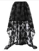 povoljno Grudnjaci-Žene Veći konfekcijski brojevi A kroj Vintage Suknje - Jednobojni Crn Obala Red S M L / Čipka / Asimetričan