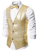 abordables Robes Grandes Tailles-Térylène Décorations Utilisation / Soirée Mode / Paillettes Couleur Pleine / Paillette / Classique