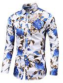 זול חולצות-פרחוני סגנון סיני / אלגנטית חולצה - בגדי ריקוד גברים דפוס שחור