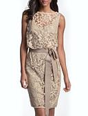hesapli Gelin Annesi Elbiseleri-Sütun Bateau Boyun Kısa / Mini Dantelalar Kurdeleler ile Gelin Annesi Elbisesi tarafından LAN TING Express