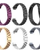 hesapli Smartwatch Bantları-Watch Band için Fitbit HR'ye İlham Ver / Fitbit ilham Fitbit Spor Bantları Paslanmaz Çelik Bilek Askısı