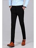 hesapli Pantolonlar-Erkek Temel Takım Elbise Pantolon - Solid Siyah Koyu Mavi US34 / UK34 / EU42 US36 / UK36 / EU44 US38 / UK38 / EU46