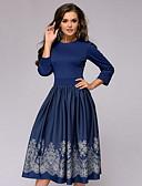 povoljno Poslovne haljine-Žene A kroj Haljina Geometrijski oblici Midi