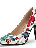 povoljno Bikinis-Žene Cipele na petu Stiletto potpetica Krakova Toe Cvijet od satena / Ušivena čipka PU / Sintetika Vintage / Kinezerije Proljeće ljeto / Jesen zima Crn / Zelen / Plava / Zabava i večer / Color block