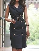povoljno Print Dresses-Žene Bodycon Haljina Jednobojni Iznad koljena