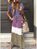 hesapli Maksi Elbiseler-Kadın's Temel Kombinezon Elbise - Zıt Renkli, Kırk Yama Maksi