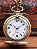 Недорогие Карманные часы-Муж. Карманные часы Кварцевый Старинный Творчество Новый дизайн Cool Аналого-цифровые Винтаж - Бронзовый