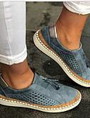 povoljno Nježna čipka-Žene Ravne cipele Ravna potpetica Okrugli Toe PU Ljeto Crn / Zelen / Navy Plava