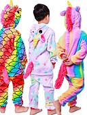 povoljno Zentai odijela-Dječji Kigurumi plišana pidžama Unicorn Leteći konj Poni Onesie pidžama Fabrik Flannel Crn / White+Pink / Obala Cosplay Za Dečki i cure Zivotinja Odjeća Za Apavanje Crtani film Festival / Praznik