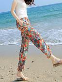 hesapli Kadın Etekleri-Kadın's Boho Chinos / büzgülü kısa pantalon Pantolon - Desen Turuncu Havuz S M L