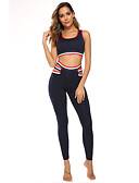 hesapli Kadın Tulumları-Kadın's Tracksuit Yoga kıyafeti Spor Dalları Yelek Giysi Takımları Kolsuz Aktif Giyim