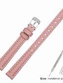 hesapli Deri Saat Bandı-Gerçek Deri / Deri / Buzağı Tüyü Watch Band kayış için Pembe Diğer / 17cm / 6.69 inç / 19cm / 7.48 İnç 1cm / 0.39 İnç