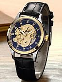 זול שעונים-בגדי ריקוד גברים שעון מכני אוטומטי נמתח לבד סגנון פורמלי סגנון מודרני עור אמיתי שחור / חום 30 m עמיד במים זוהר בחושך מגניב אנלוגי פאר אופנתי - מוזהב לבן זהב / לבן שחור / זהב