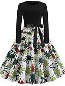 povoljno Vintage kraljica-Žene Vintage A kroj Haljina - Kolaž Print, Na točkice Sažetak Do koljena