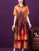 hesapli Büyük Beden Elbiseleri-Kadın's Vintage Set Gökküşağı Pantolon