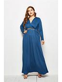 hesapli Kadın Elbiseleri-Kadın's Zarif Çan Elbise - Solid Maksi