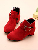 povoljno Kompletići za djevojčice-Djevojčice Umjetno krzno Čizme Mala djeca (4-7s) Udobne cipele Crn / Crvena / Pink Zima / Čizme gležnjače / do gležnja