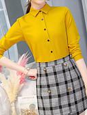 hesapli Tişört-Kadın's Bluz Solid Sarı