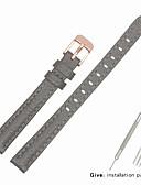 hesapli Deri Saat Bandı-Gerçek Deri / Deri / Buzağı Tüyü Watch Band kayış için Gri Diğer / 17cm / 6.69 inç / 19cm / 7.48 İnç 1cm / 0.39 İnç