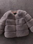 povoljno Jakne i kaputi za djevojčice-Djeca Djevojčice Osnovni Jednobojni Jakna i kaput Crn
