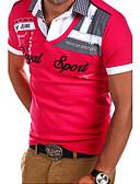 זול חולצות פולו לגברים-אותיות Polo - בגדי ריקוד גברים שחור