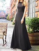 זול שמלות שושבינה-גזרת A עם תכשיטים עד הריצפה שיפון שמלה לשושבינה  עם קפלים על ידי LAN TING Express