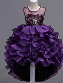 povoljno Haljine za djevojčice-Djeca Djevojčice Cvjetni print Haljina purpurna boja