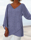 ieftine Bluză-Pentru femei Tricou Dungi Negru