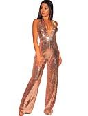 povoljno Ženski jednodijelni kostimi-Žene Zlato Jumpsuits, Jednobojni S M L