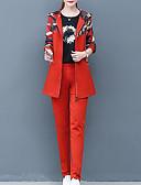 זול חליפות שני חלקים לנשים-מכנס דפוס, קולור בלוק - סט סגנון רחוב בגדי ריקוד נשים