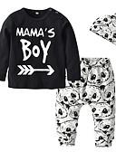 זול לבנים סטים של ביגוד לתינוקות-סט של בגדים שרוול ארוך אחיד / דפוס בנים תִינוֹק