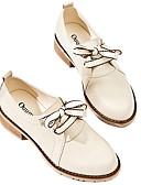 זול סטים של ביגוד לבנות-בגדי ריקוד נשים נעלי אוקספורד עקב עבה בוהן עגולה עור קיץ שקד
