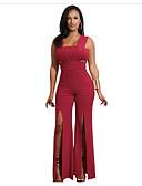povoljno Ženski jednodijelni kostimi-Žene Crn Lila-roza Obala Odjeća za igru, Jednobojni S M L