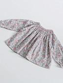 זול חולצות לתינוקות-חולצה שרוול ארוך פרחוני בנות תִינוֹק