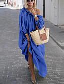 povoljno Maxi haljine-Žene Elegantno Swing kroj Haljina - Vezanje straga, Jednobojni Maxi