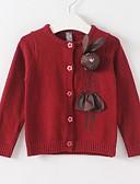 povoljno Džemperi i kardigani za djevojčice-Djeca Djevojčice Osnovni Print Dugih rukava Džemper i kardigan Red