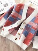 povoljno Džemperi i kardigani za bebe-Dijete Djevojčice Osnovni Karirani uzorak Dugih rukava Džemper i kardigan Bijela