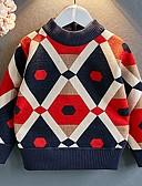 povoljno Dječaci & Dijete koje je tek prohodalo Veste-Dijete Dječaci Osnovni Geometrijski oblici Dugih rukava Džemper i kardigan Plava
