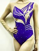povoljno Teretana-Triko za ritmičku gimnastiku Trikoi za ritmičku gimnastiku Žene Djevojčice Triko za vježbanje purpurna boja Spandex Visoka elastičnost Prozračnost Jedna barva Izgled dijamanta Bez rukávů Trening