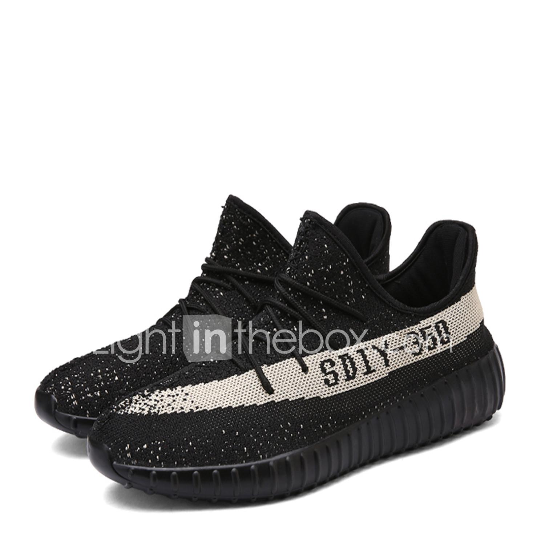 497e8ec454 Masculino-Tênis-Conforto Solados com Luzes par sapatos-Rasteiro-Cinza Preto  branco
