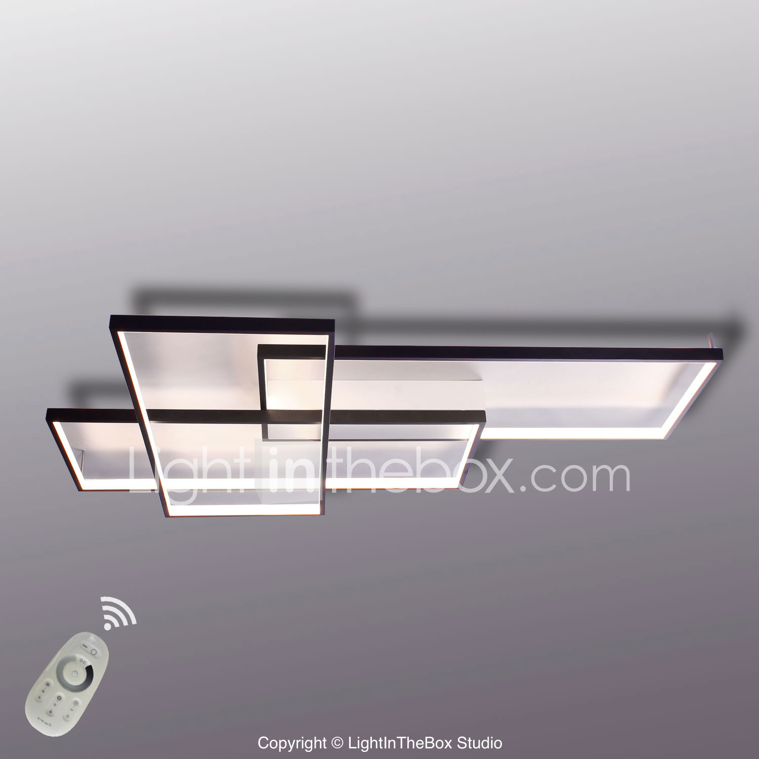 Modern LED Ceiling Light Flush Mount Wall Light Alumilium Painting With  Remoter Dimmer For Living Room Part 53