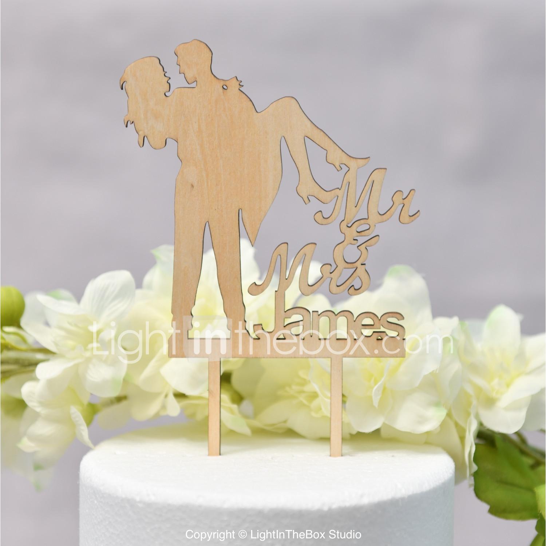 Cake Topper Classic Theme / Wedding Love Wooden / Bamboo Wedding ...