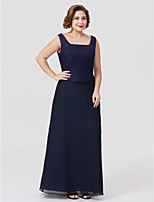 e0d526ecd26 cheap Mother of the Bride Dresses-Plus Size Sheath / Column Square Neck  Ankle Length