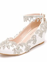 levne Dámské svatební střevíce-Dámské PU Jaro  amp  podzim Sladký Svatební  obuv Klínový podpatek 765bbd7802