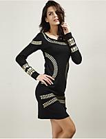 Χαμηλού Κόστους Γυναικεία Φορέματα-γυναικεία καθημερινή άνω γόνατο λεπτές  φόδρες φόρεμα ψηλή μέση λευκό μαύρο add9d8c9808